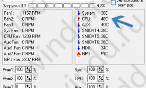 Контроль температуры процессора и видеокарты программа
