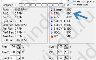 Программа показывающая температуру процессора и видеокарты