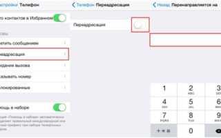 Как переадресовать звонки на айфоне