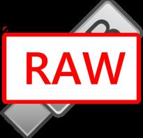 Флешка стала raw как восстановить файловую систему