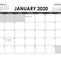 Календарь на 2020 год excel скачать бесплатно
