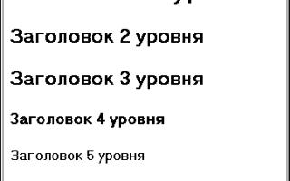 Логическое форматирование html