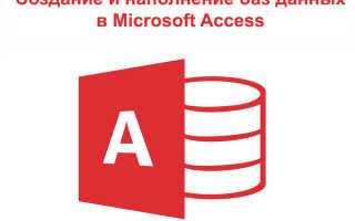 Программа access обучение