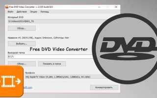 Перекодировать dvd в mp4