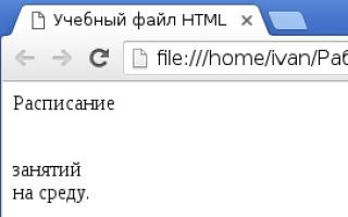 Задания по html 9 класс