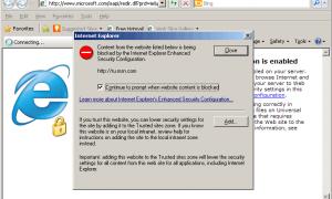 Security alert internet explorer как отключить